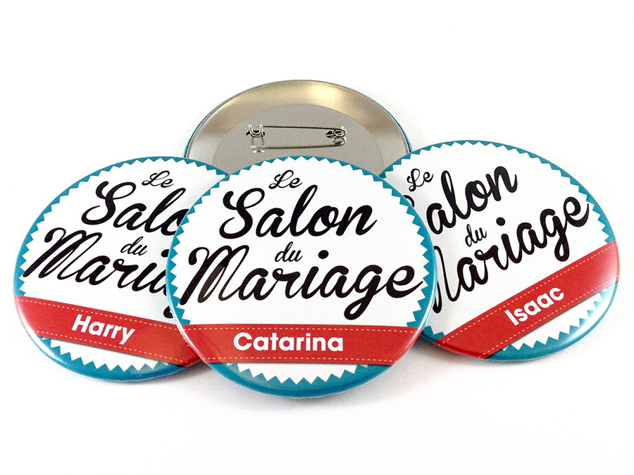 Badges Salon du Mariage
