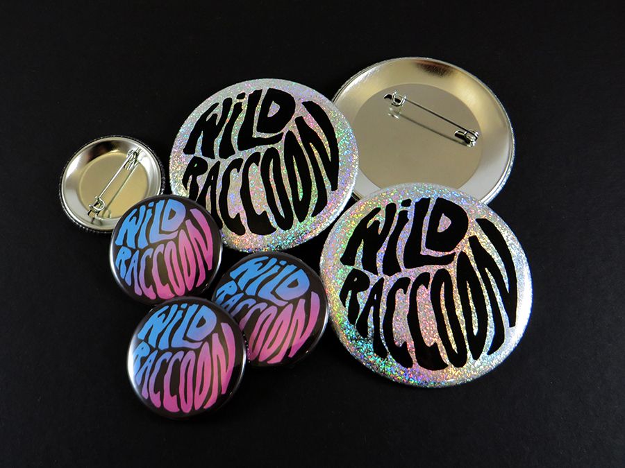 Badges Wild Raccoon