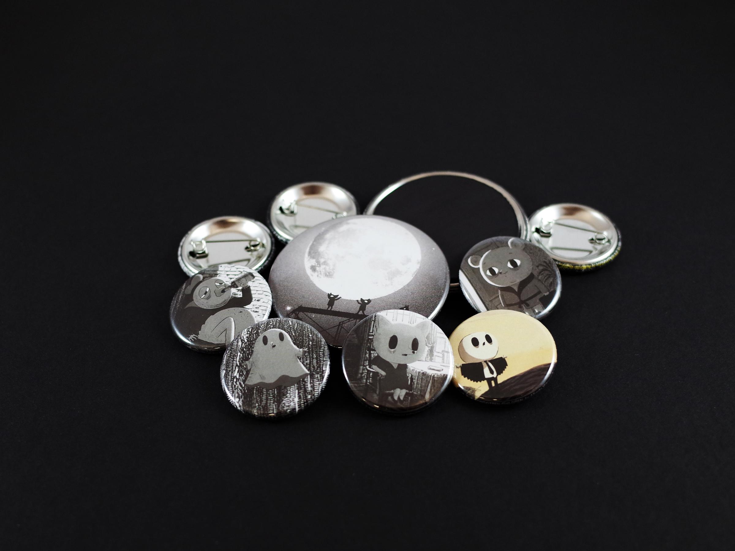 Badges et magnets Autour de Minuit
