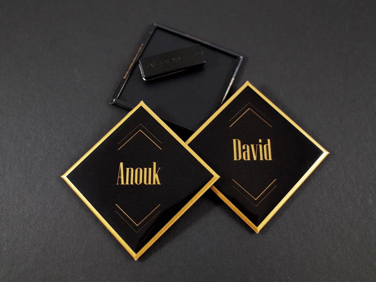 badges losanges nominatifs