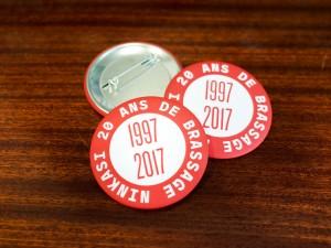 Badges Anniversaire Ninkasi