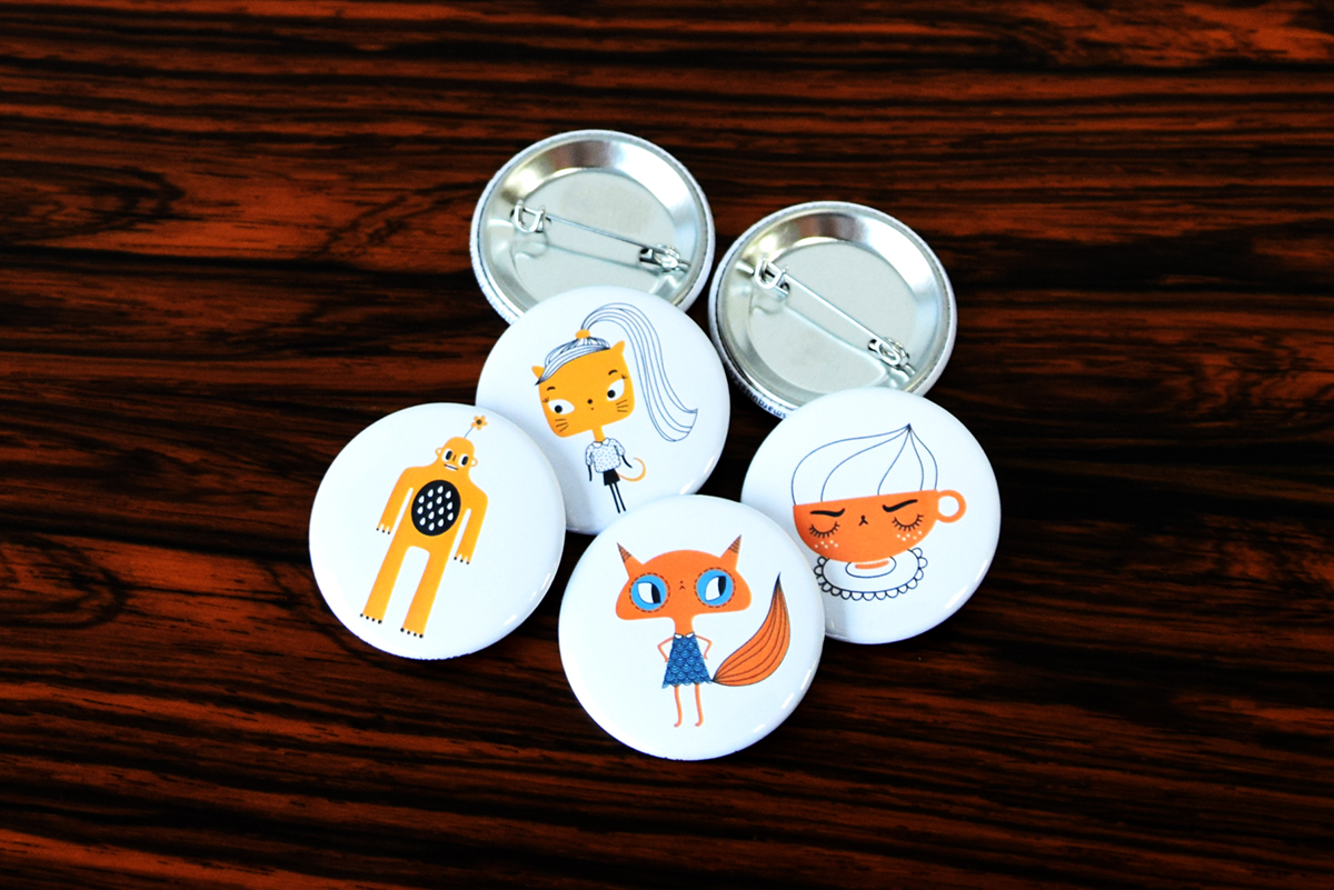 Badges Folles Marquises
