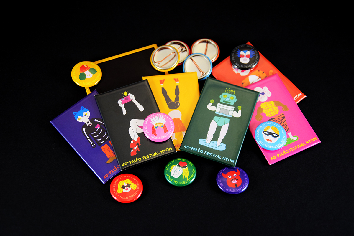 Badges Magnets Paléo Festival