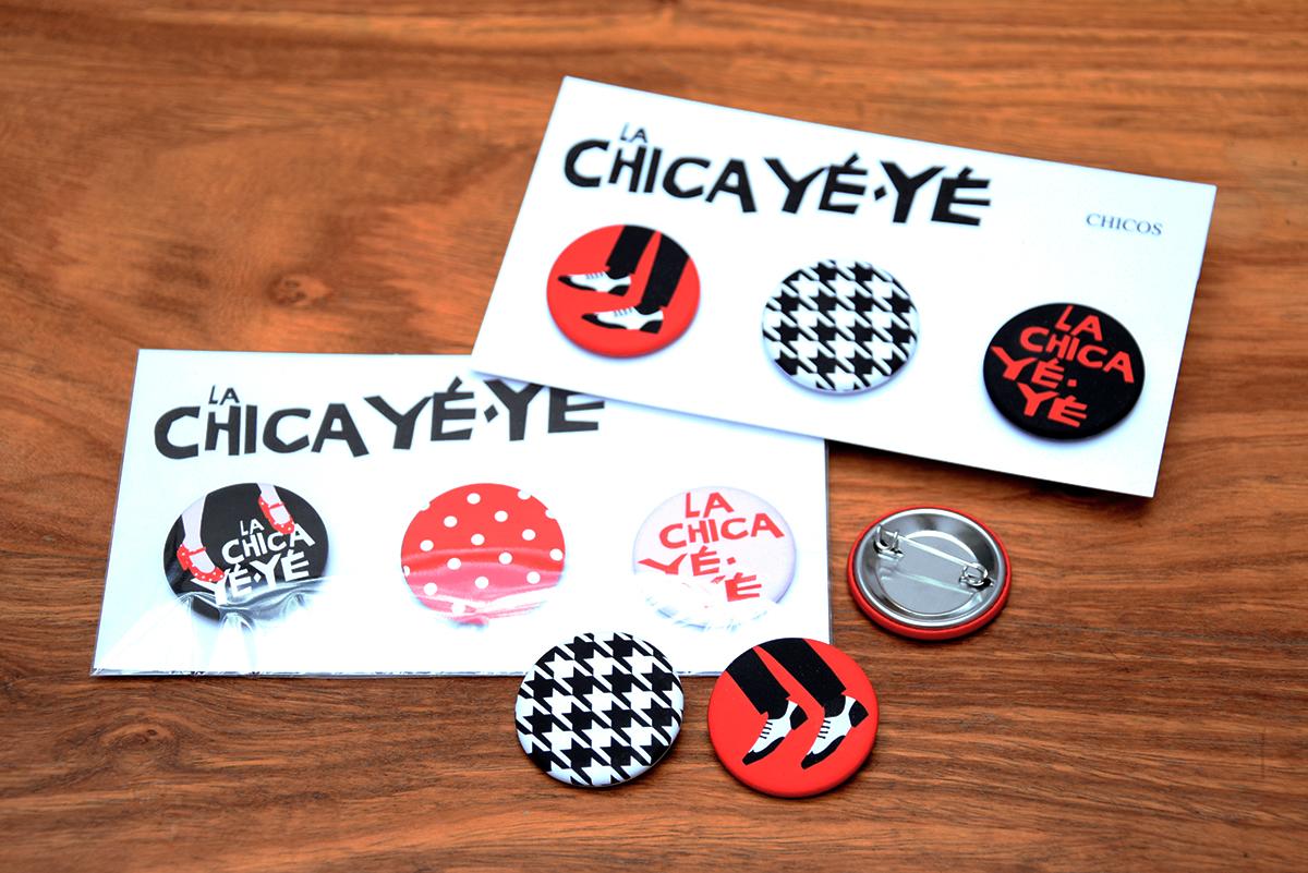 Badges Chica Yéyé