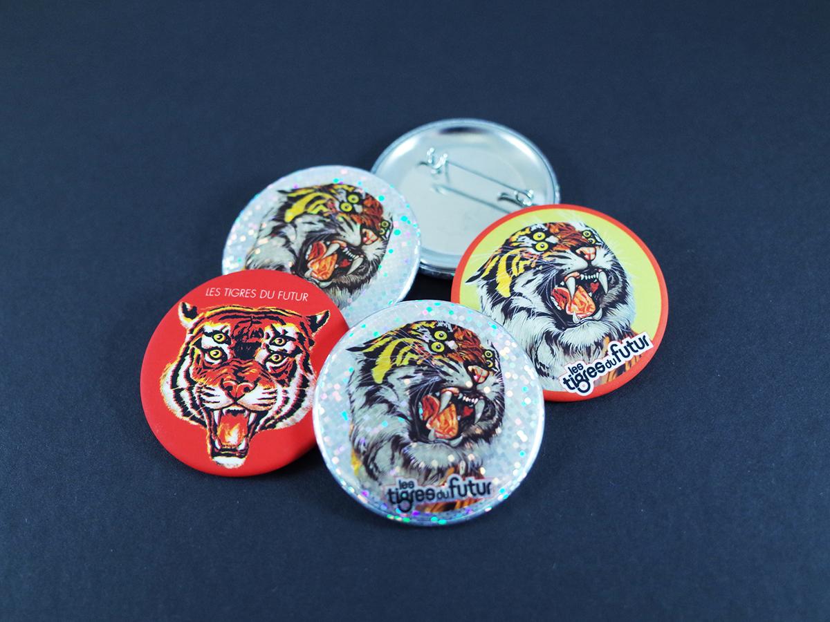 Badges Tigres du Futur