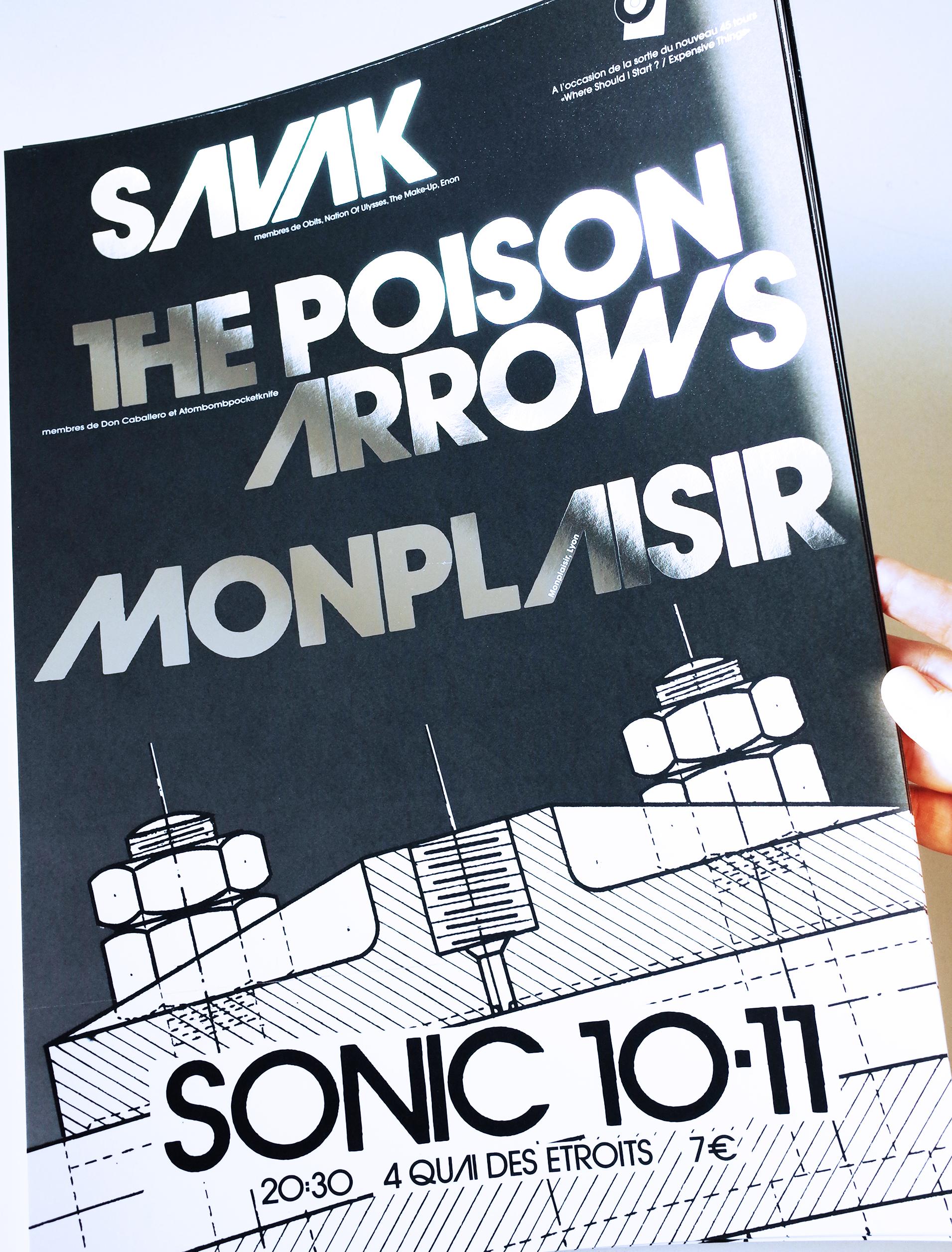 SAVAK - affiche Sonic Lyon Novembre 2018