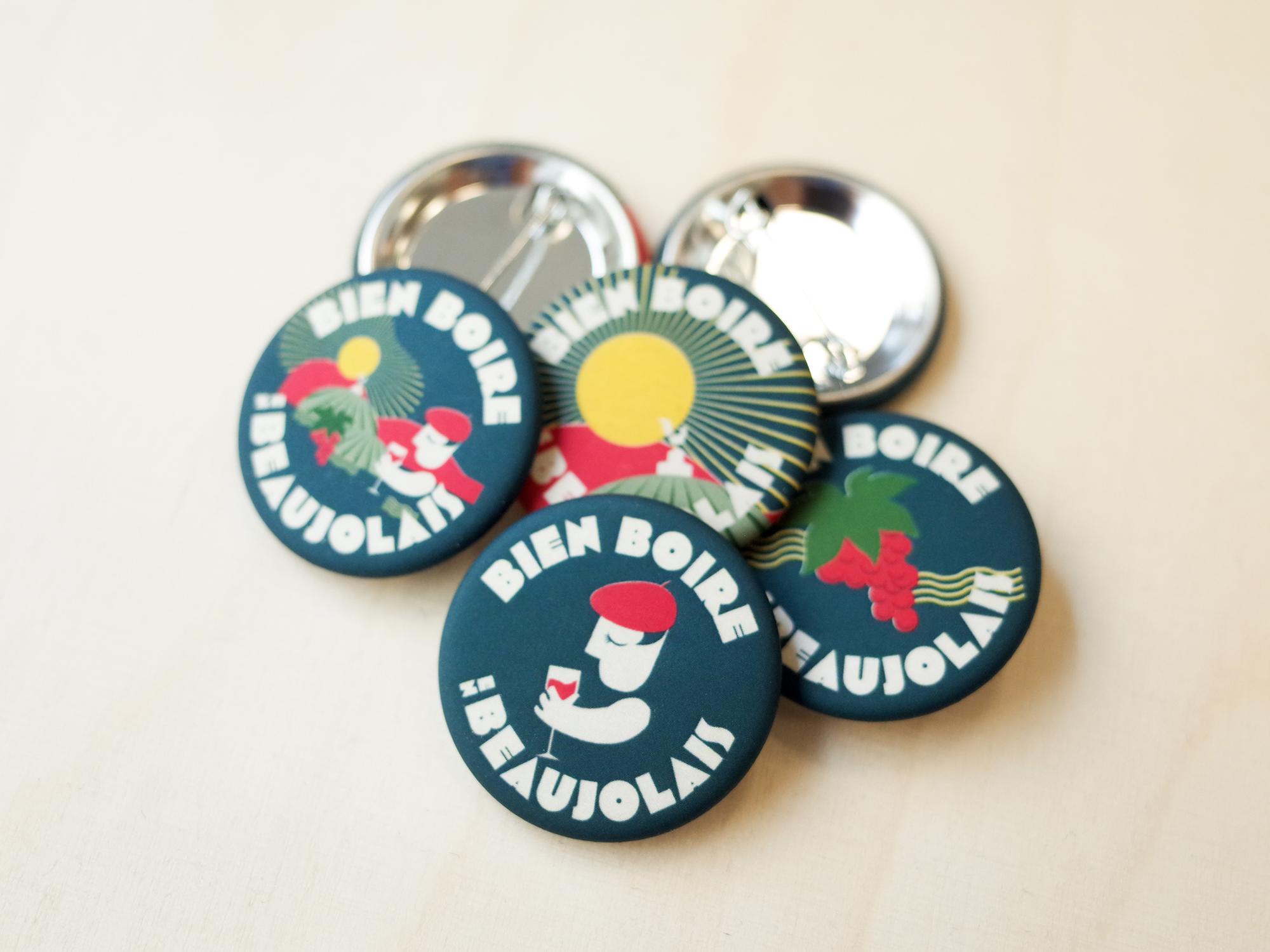 Modern City Badges Bien Boire en Beaujolais